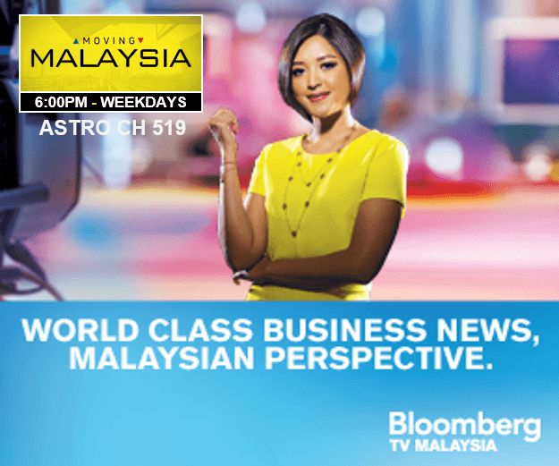 Bloomberg Malaysia's anchor, Sophie Kamaruddin (image from www.bloombergtv.my)